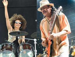 Carlos Santana...KONSERDE BATERİSTİNE EVLENME TEKLİF ETTİ !...