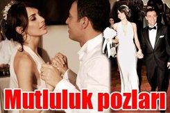Mustafa Sandal-Emina Türkcan... NİKAHTAN İLK GÖRÜNTÜLER VE BİR AŞK HİKAYESİ...