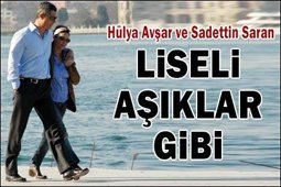 Hülya Avşar-Sadettin Saran... ROMANTİZMİN DORUKLARINDALAR...