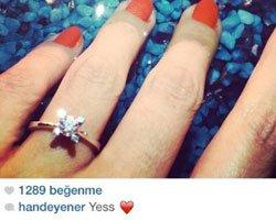 Hande Yener... `TEK TAŞI`NI TAKTI!
