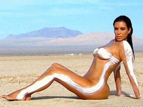 Kim Kardashian... ÇÖL SICAĞINA DAYANAMADI!