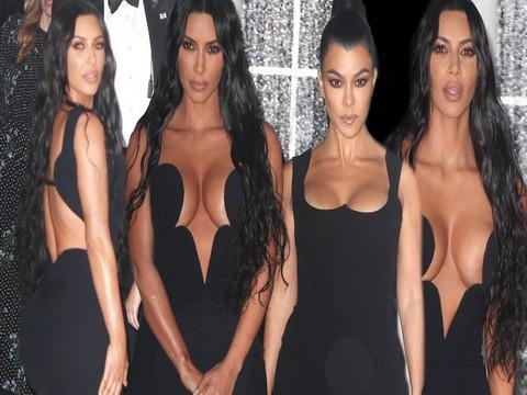 Kim Kardashian... GÖĞÜS DEKOLTESİYLE SINIRLARI ZORLADI!..