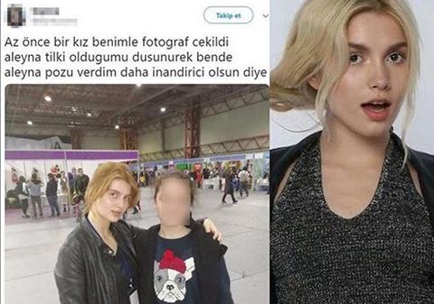 Aleyna Tilki... BENZERİ ONUN YERİNE POZ VERİRSE!