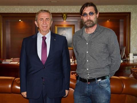 Erdal Beşikçioğlu... MANSUR YAVAŞ'A SÜRPRİZ ZİYARET!