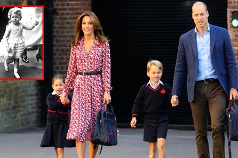 Prenses Charlotte...OKULA BAŞLADI, BÜYÜK BABANNESİNE BENZETİLDİ!