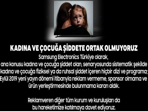 KONUSU KADINA VE ÇOCUĞA ŞİDDET OLAN DİZİLERE REKLAM VERMEME KAMPANYASI!..