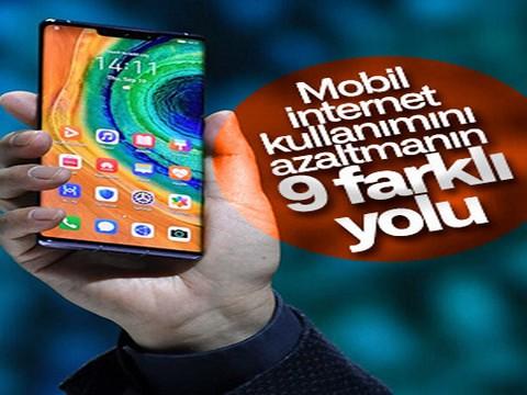 Android.... MOBİL VERİ KULLANIMINI AZALTMANIN 9 YOLU!..