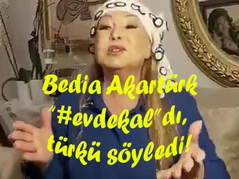 Bedia Akartürk...PANDEMİ MESAJINI TÜRKÜ İLE İLETTİ!