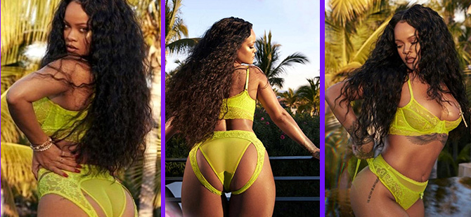 Rihanna... İÇ ÇAMAŞIRLARI DETAYI OLAY!