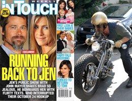 Türk medyasında ilk kez / Brad Pitt... JENNİFER'E GİDERKEN MOTORDAN DÜŞTÜ....