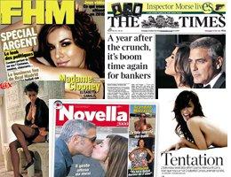 George Clooney'in sevgilisi Elisabetta Canalis... İTALYAN GELİNİ SOYAN SOYANA!..
