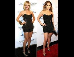 Heidi Klum-Jennifer Lopez...AYNI ELBİSE İLE PİŞTİ OLDULAR!...