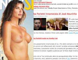 özel haber.../Alba Parietti...JOSE MOURİNHO AŞKI İTALYA'DA PATLADI!!....