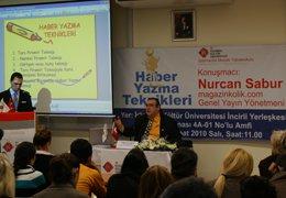Nurcan Sabur..  KÜLTÜR ÜNİVERSİTESİ'NDE KONFERANS VERDİ?