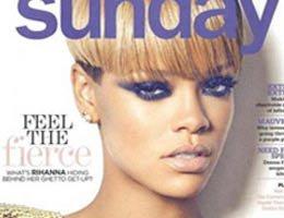 Rihanna..SUNDAY'E ÇARPICI POZLAR!...