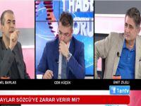 Cemil Barlas-Ümit Zileli... CANLI YAYINDA BİRBİRLERİNE GİRDİLER...