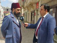 Payitaht Abdülhamid... BARIŞ ELÇİLERİ VE FİLİSTİN'Lİ GAZETECİDEN SETE ZİYARET!..