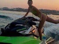 Kendall Jenner...JET SKİ KULLANARAK KAPAK AÇTI!